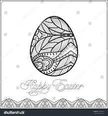 easter egg pattern zentangle style coloring stock vector 369890057