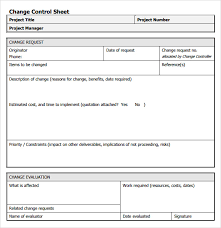 Project Request Form Template Excel Sle Change Request 7 Documents In Pdf Word