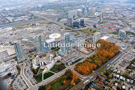 latitude image scarborough town centre ontario aerial photo