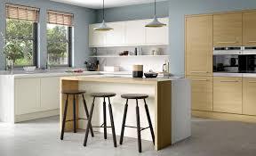 Light Oak Kitchen Strada Matte Porcelain Tavola Light Oak Kitchen