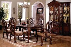 impressive telegraph rich cherry wood and marble dining table set