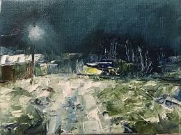 buy landscape evening journey home painting for interior is a