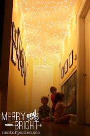 how to put christmas lights on your wall all things merry bright add twinkle lights to your hallway nest