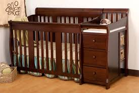Baby Crib With Changing Table Black Baby Cribs With Changing Table Attached Modern Home Design