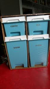 Kitchen Canisters Blue by 340 Best Canisters Images On Pinterest Kitchen Canisters