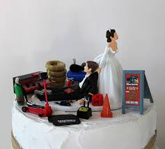 mechanic cake topper humorous wedding cake topper mechanic grooms cake