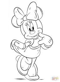 minnie mouse coloring free printable coloring pages