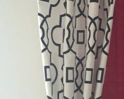 Drapes Black And White Moroccan Curtains Etsy