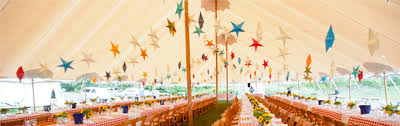 add these unusual outdoor wedding tent decorations to your wedding