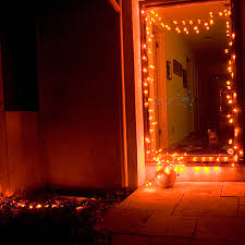 60 led pumpkin string light set 120v indoor outdoor in ul