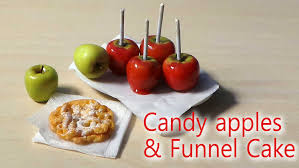 candy apples for halloween easy miniature candy apple u0026 funnel cake tutorial halloween