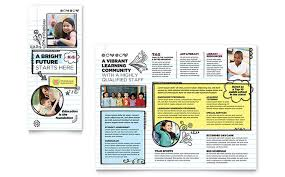 Tri Fold Program Tri Fold Brochure Templates Indesign Illustrator Publisher