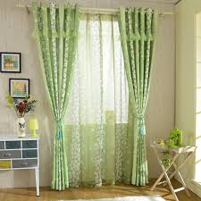 bedroom window curtains online shop rustic pastoral floral green curtains for living room