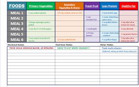 Diet Tracker Spreadsheet Piyo Excel Workout Tools