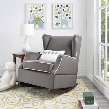 Nursery Glider Chairs Ideal Grey Glider Chair For Nursery Design Ideas And Decor