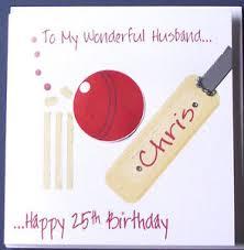 personalised handmade cricket birthday card husband boyfriend
