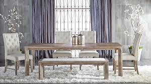 rivet upholstered bench