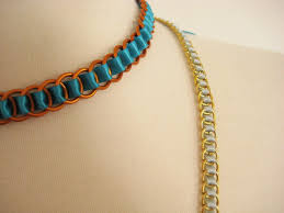 ribbon necklace images Ribbon woven chain necklace how did you make this luxe diy jpg