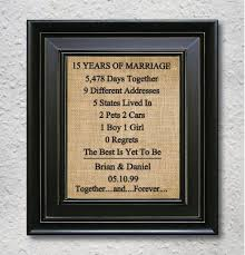 15 year anniversary gifts wedding gift awesome 15 year wedding anniversary gift for him