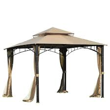 Metal Pergolas With Canopy by Patio Gazebo Canopy The Home Depot