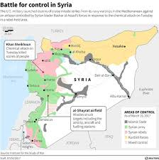 Syria On A Map by Russia Syria Furious Over Us Airstrike That Killed Forces Loyal