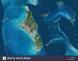 Nassau Map Satellite View Of Andros New Providence And Eleuthera Islands