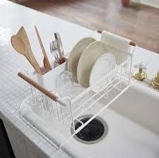over the sink dish drying rack yamazaki usa tosca over the sink dish drainer rack reviews wayfair