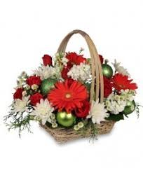 be jolly basket holiday flowers