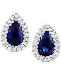 earrings pictures sapphire 9 10 ct t w diamond 1 8 ct t w stud earrings in