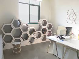 Diy Honeycomb Shelves by Stackable Hexagon Recycled Cardboard Shelves Bookish Pinterest