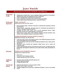 Example Of A Written Resume by Sample Profile Summary For Resume 21 Summary Screenshot Example