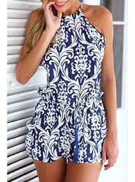white blue rompers cheap price