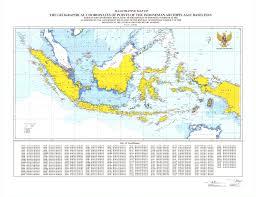 Coordinates Map Indonesia