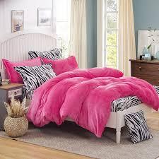Zebra Bed Set Leopard Fleece Bedding Set King Flannel Duvet Cover Zebra Bed