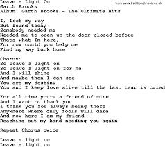 leave a light on garth brooks leave a light on by garth brooks lyrics