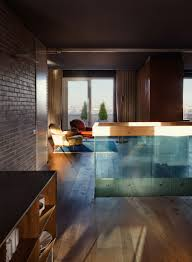 brick wall apartment stylish two level apartment design with brick walls 4betterhome