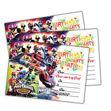 power rangers birthday cards and stationery for children ebay