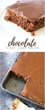 classic chocolate sheet cake recipe