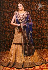 bridal wear golden royal blue bridal dress designer dresses