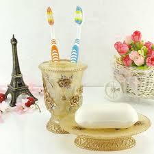 aliexpress com buy elegant floral bathroom set pink gold diy