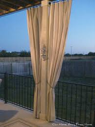 Outdoor Patio Curtains Canada Our Home Away From Home No Sew Canvas Drop Cloth Outdoor Curtains