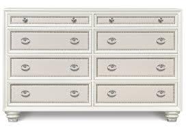Rayville Upholstered Bedroom Set Magnussen Home Diamond Bedroom Eight Drawer Dresser With Polyvinyl