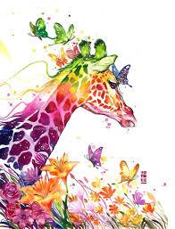 giraffe watercolor painting by luqmanreza 2