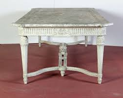large 19th century french painted dining room table with faux