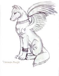 winged wolf by luminous angel on deviantart