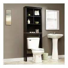 Wood Bathroom Furniture Amazon Com Sauder Peppercorn Etagere Bath Cabinet Cinnamon