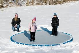 amazon com inflatable 12 u0027 ice skating rink sports u0026 outdoors