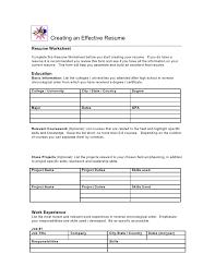 resume worksheet template resume worksheets for highschool students cover letter sles
