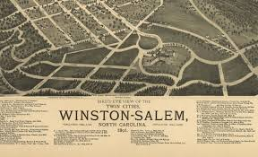 Winston Salem Zip Code Map by Antique Bird U0027s Eye View Map Winston Salem North Carolina 1891