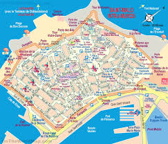Toulouse France Map by Saint Malo Tourist Map